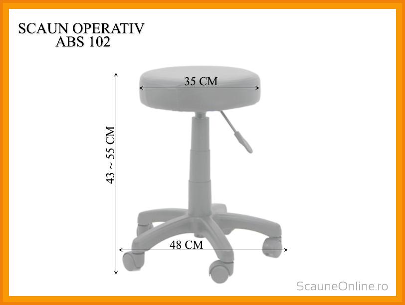 Dimensiuni Scaun operativ ABS 102