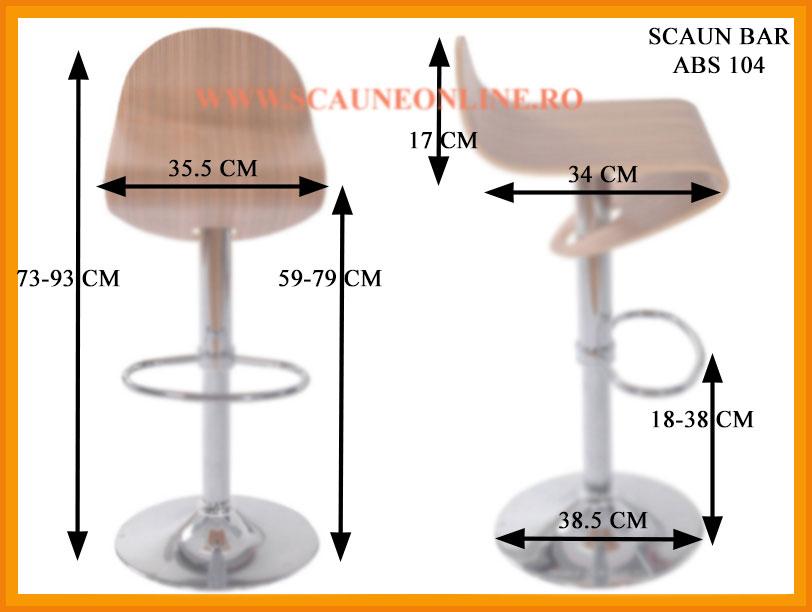 Dimensiuni Scaun bar ABS 104