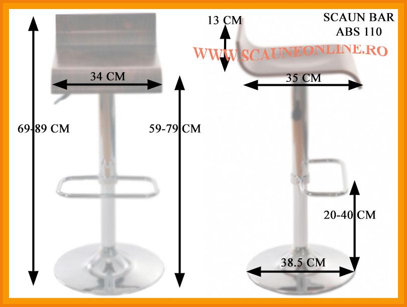 Dimensiuni scaune bar ABS 110