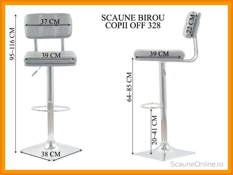 Dimensiuni scaune casino ABS 125