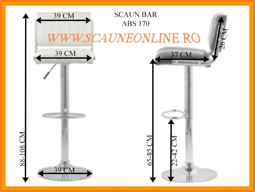 Dimensiuni Scaun bar ABS 170