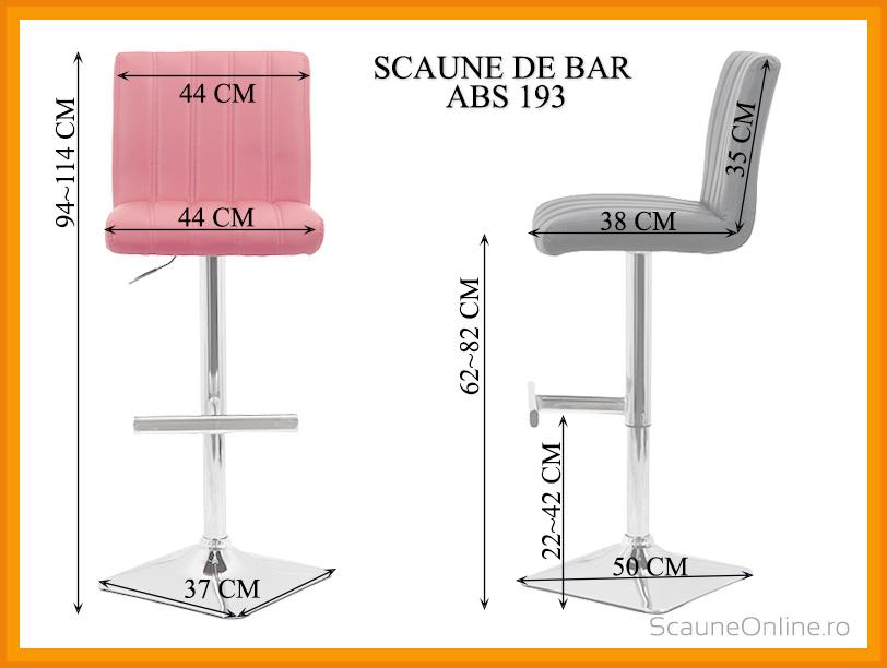 Dimensiuni Scaun de bar ABS 193