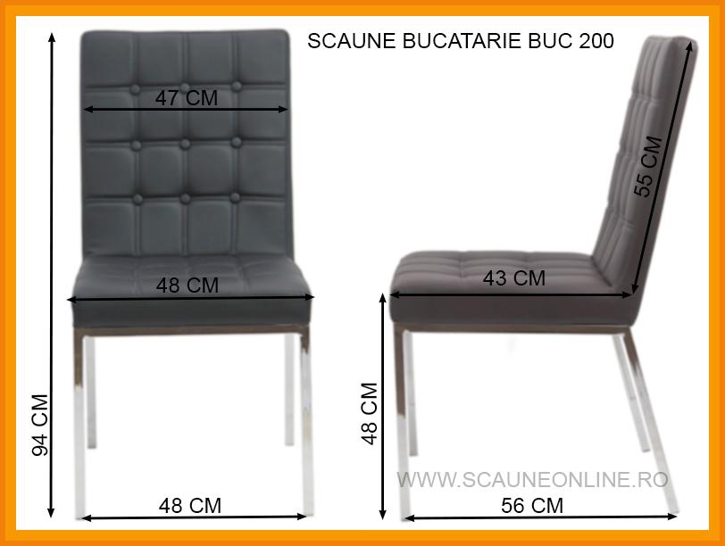 Dimensiuni Scaune bucatarie BUC 200