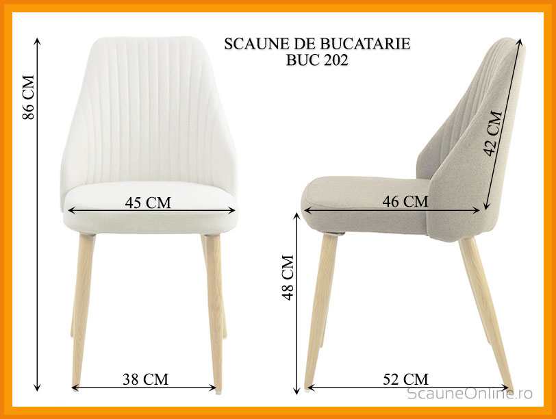 Dimensiuni Scaun de bucatarie BUC 202
