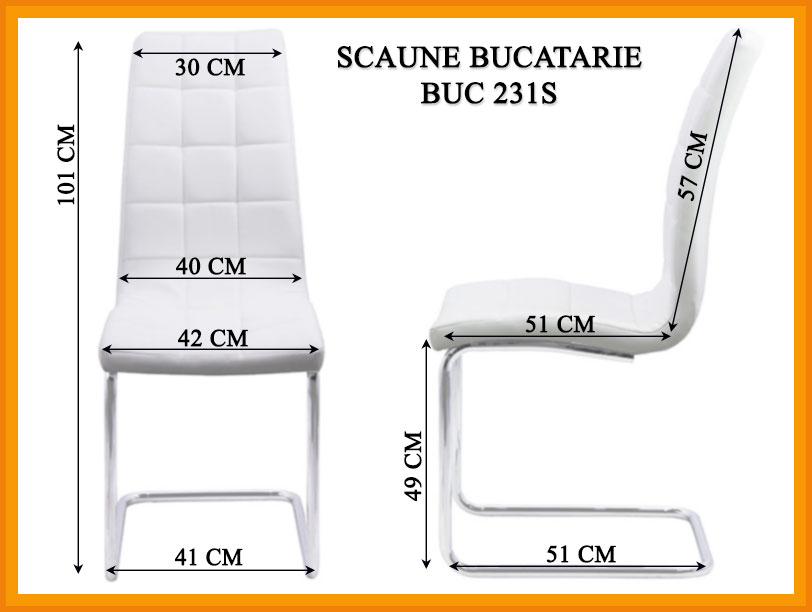 Dimensiuni Scaun bucatarie BUC 231S