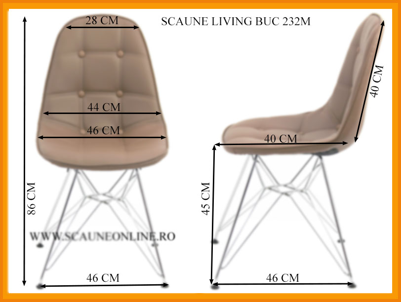 Dimensiuni Scaune living BUC 232M