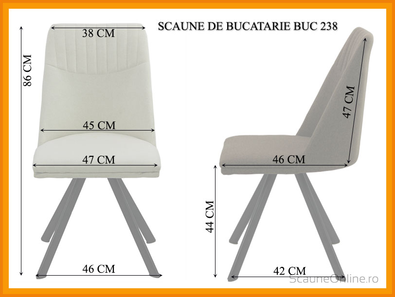 Dimensiuni scaun bucatarie BUC 238
