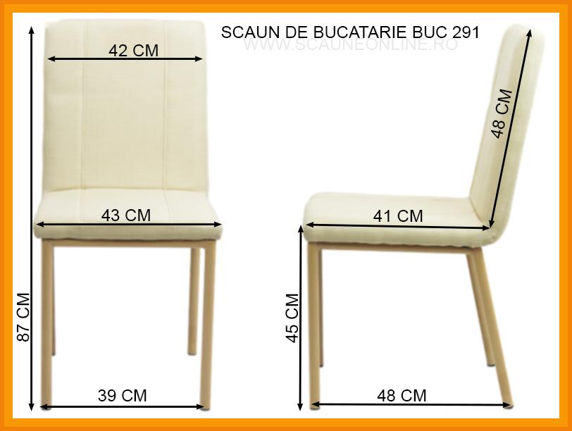 Dimensiuni Scaun de bucatarie BUC 291