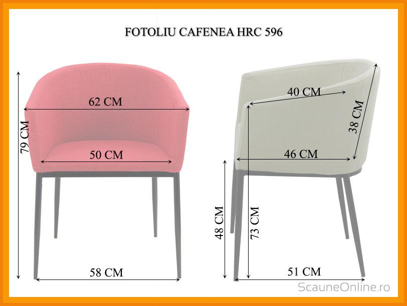 Dimensiuni Fotoliu cafenea HRC 596