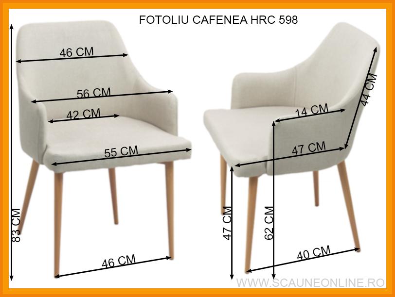 Dimensiuni Fotoliu cafenea HRC 598