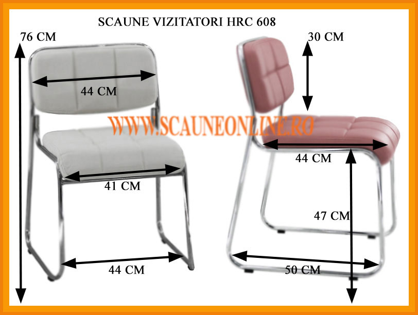 Dimensiuni scaune bar HRC 608