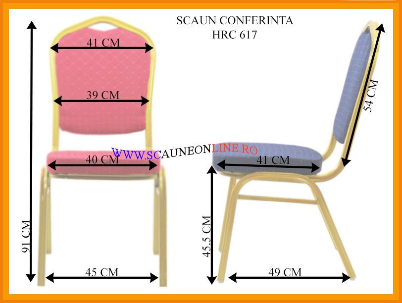 Dimensiuni Scaun conferinta HRC 617