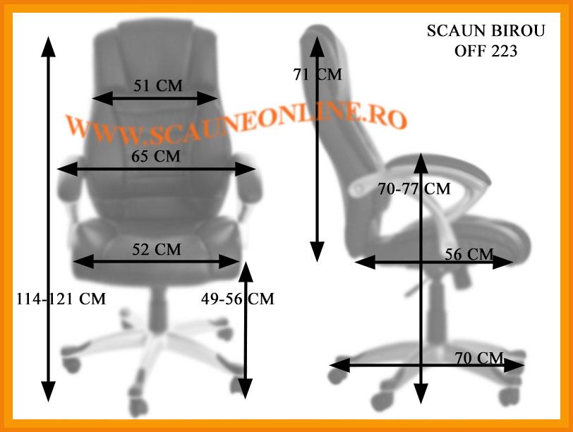 Dimensiuni Scaune de birou OFF 223