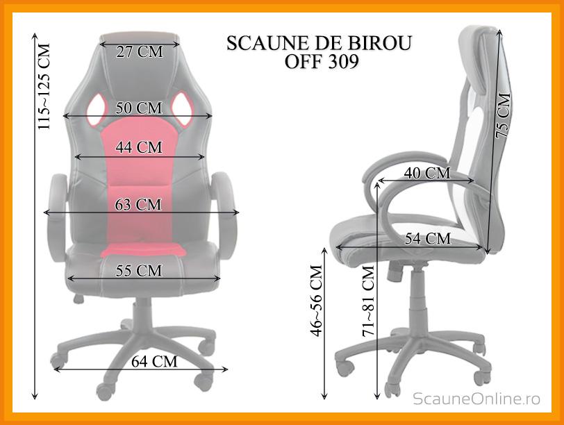 Dimensiuni scaune birou OFF 309
