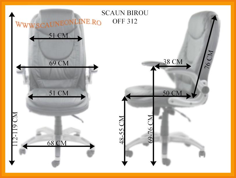 Dimensiuni Scaune de birou OFF 312