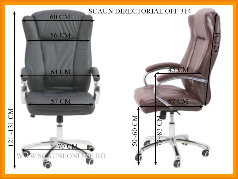 Dimensiuni Scaun directorial OFF 314