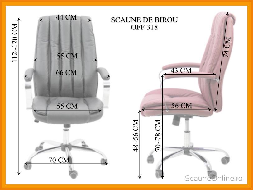 Dimensiuni Scaun de birou OFF 318