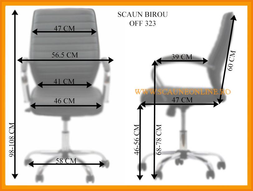 Dimensiuni scaune bioru OFF 323