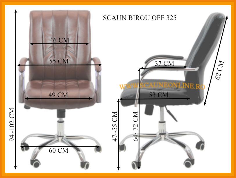 Dimensiuni Scaun birou OFF 325