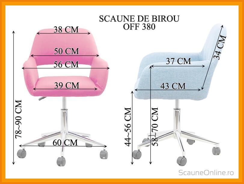 Dimensiuni Scaun de birou OFF 380