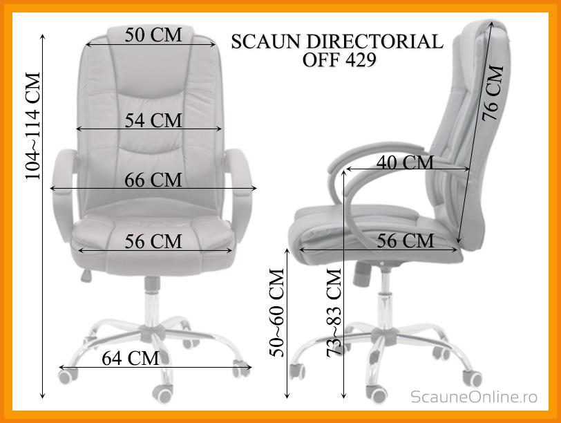 Dimensiuni Scaun directorial OFF 429