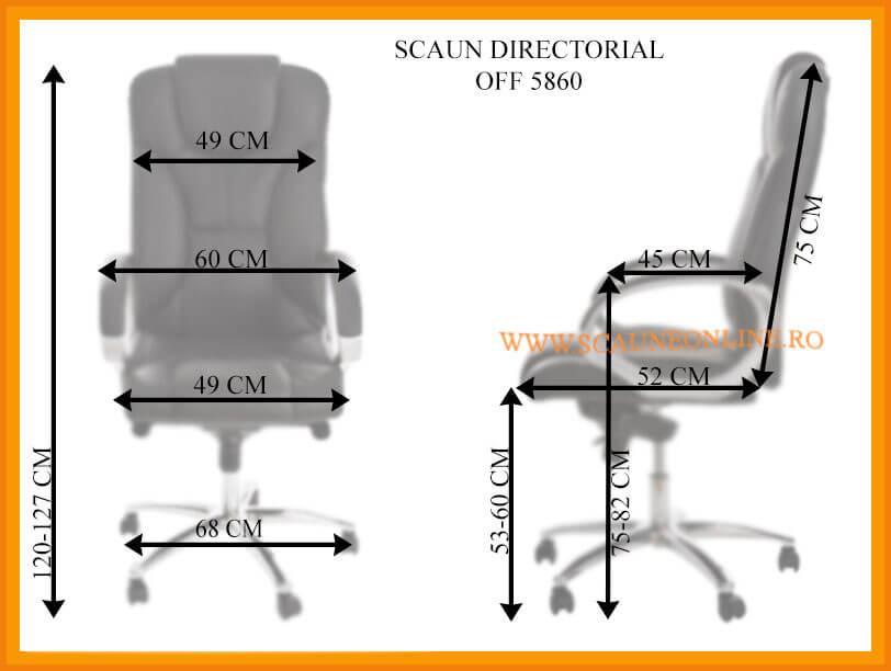 Dimensiuni Scaun directorial OFF 5860