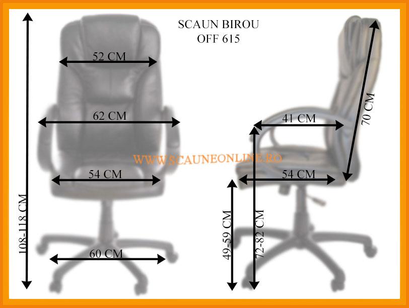 Dimensiuni Scaun de birou ergonomic OFF 615