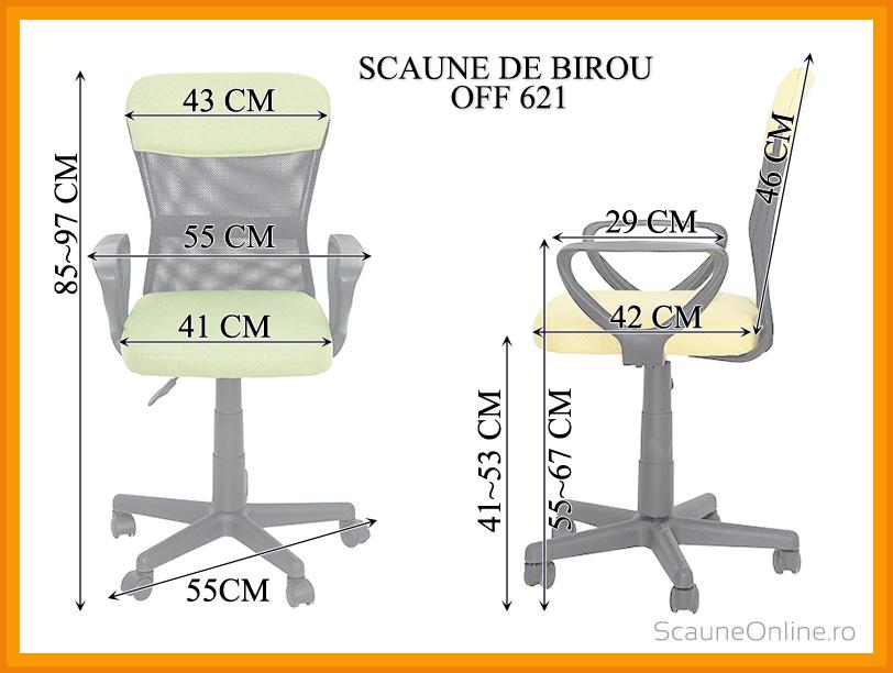 Dimensiuni scaun de birou OFF 621