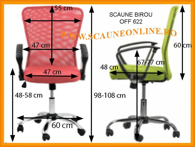 Dimensiuni Scaun de birou ergonomic OFF 622