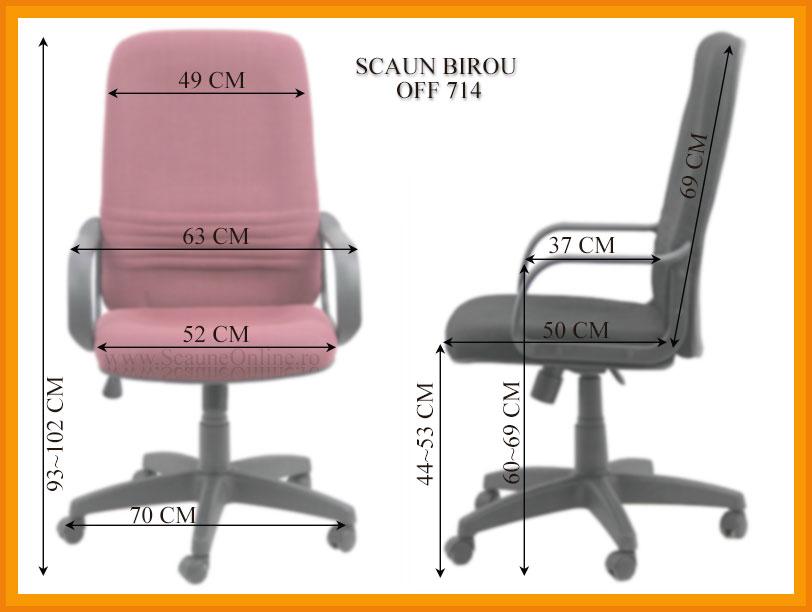 Dimensiuni Scaun de birou OFF 714