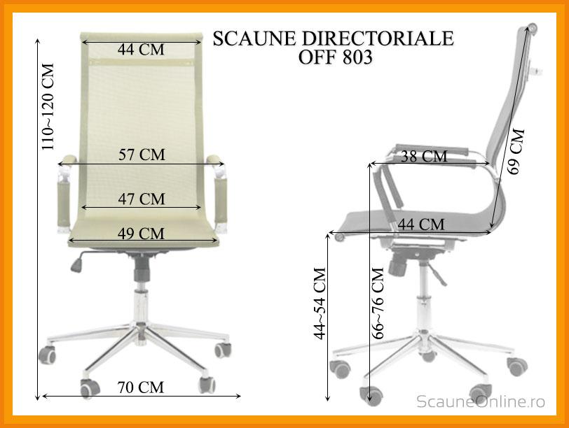 Dimensiuni scaune birou OFF 803
