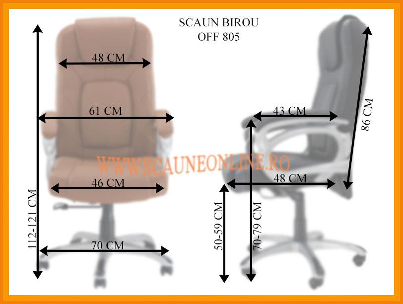 Dimensiuni scaune birou OFF 805