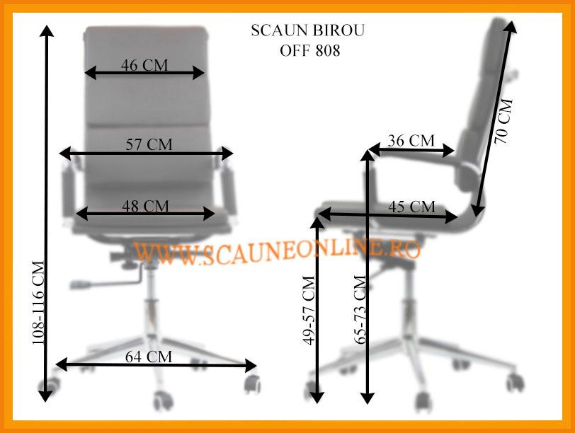 Dimensiuni scaune birou OFF 808