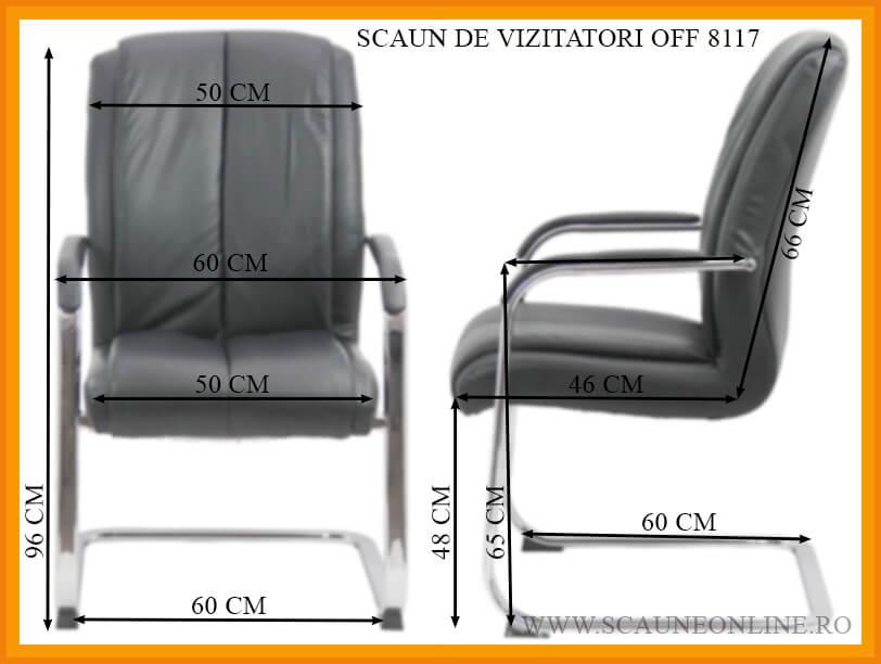Dimensiuni Scaun de vizitatori OFF 8117
