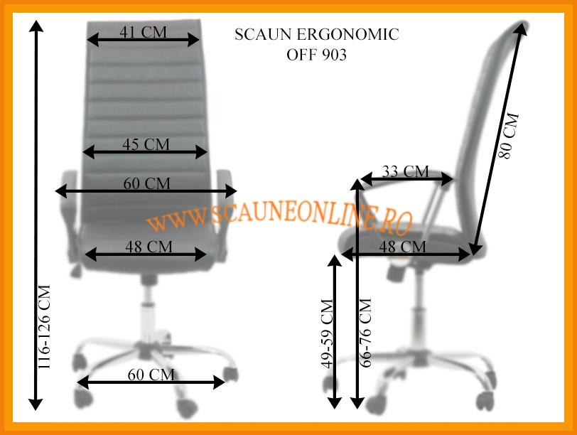 Dimensiuni Scaun ergonomic OFF 903