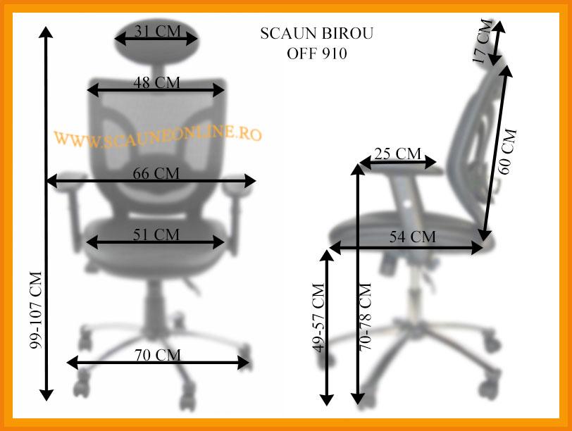 Dimensiuni scaune birou OFF 910