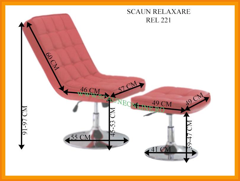 Dimensiuni Scaune de relaxare REL 221