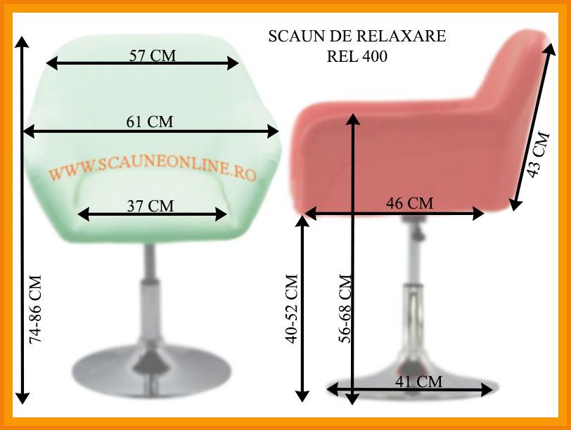 Dimensiuni scaune relaxare REL 400