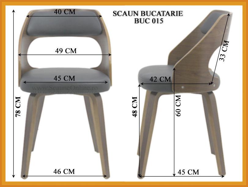 Dimensiuni Scaun de bucatarie BUC 015