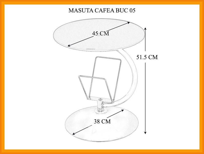 Dimensiuni Masa de cafea BUC 05