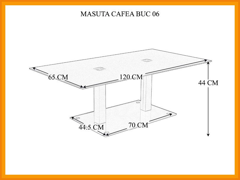 Dimensiuni Masuta de cafea BUC 06