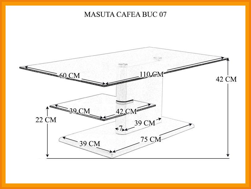 Dimensiuni Masuta Cafea BUC 07
