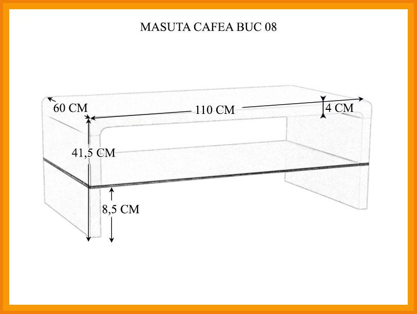 Dimensiuni Masuta Cafea BUC 08
