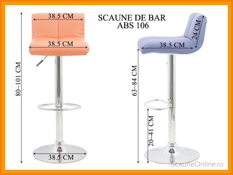 Dimensiuni Scaune de bar ABS 106