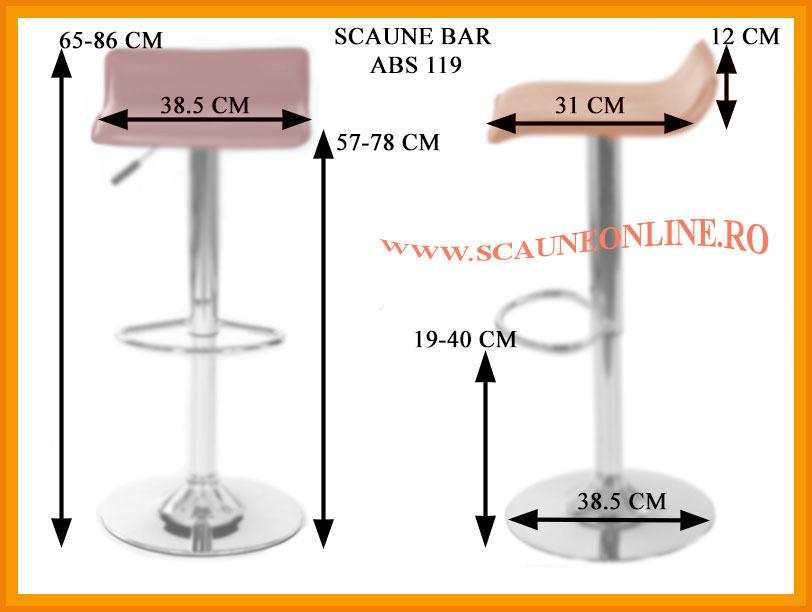Dimensiuni scaune bar ABS 119