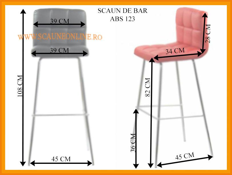 Dimensiuni scaune bar ABS 123