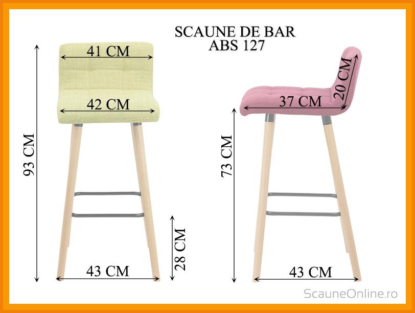 Dimensiuni Scaun de bar ABS 127