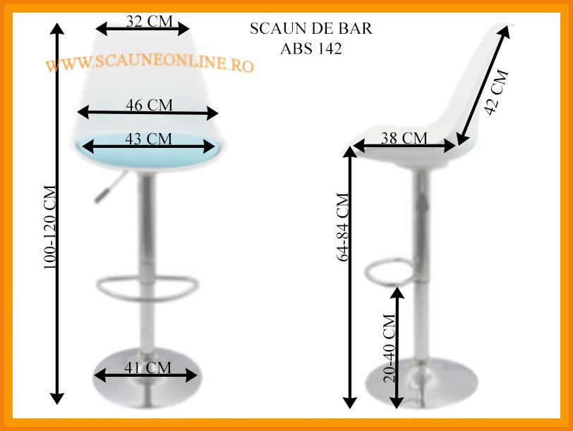 Dimensiuni Scaune de bar ABS 142