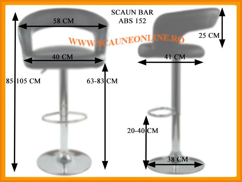 Dimensiuni Scaun de bar abs 152