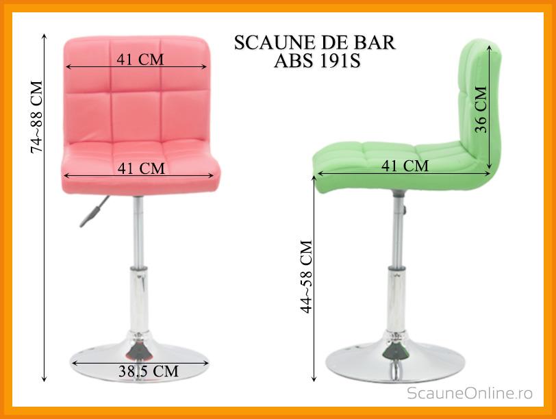 Dimensiuni Scaune de bar ABS 191S